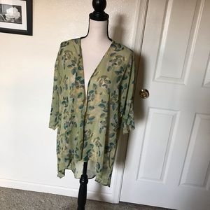 LulaRoe Monroe Sheer Duster Kimono